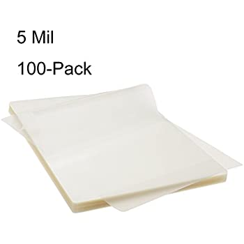 BESTEASY Thermal Laminating Pouches 100 Pack, 8.9 x 11.4-Inches, 5 mil Thick