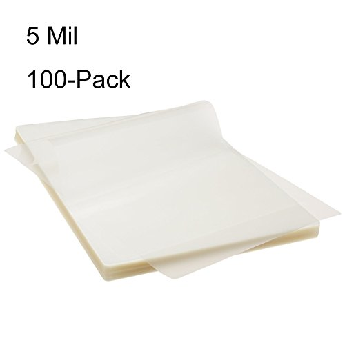 BESTEASY Thermal Laminating Pouches 100 Pack, 8.9 x 11.4-Inches, 5 mil Thick by BESTEASY