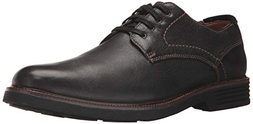 (Dockers Mens Parkway Leather Dress Casual Oxford Shoe with NeverWet, Black, 12 W)