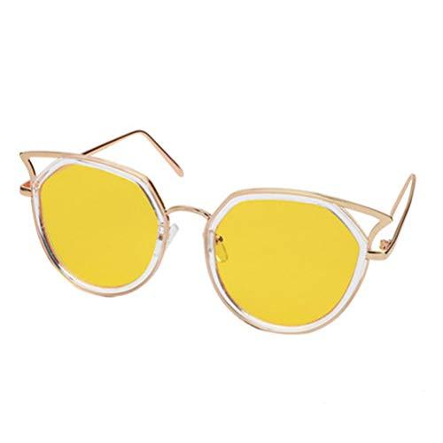 Gato Srywj Marea Estrella Yellow Cara Sol Gafas Modelos Redonda Rosa Retro Personalidad Ojo Femenina Vanguardia De Larga qESwrgE