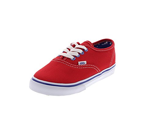 Vans Authentic - Mocasines Bebé-Niños Rojo (star Eyelet/high Risk Red)
