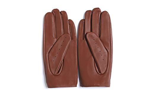 YISEVEN Women's Sheepskin Driving Leather Gloves Motorcycle Full Finger