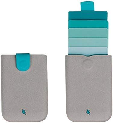Peanutaso Mini Slim Portadores de Tarjetas portátiles Diseño tirado Cartera para Hombres Color Degradado 9 Tarjetas Bolsas de Dinero Monedero Corto para Mujer