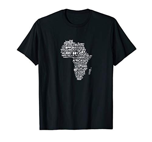 Toto-Africa-Lyrics to Bless the Rains on t-shirt - gift by 10th8 Pareto Design t shirt - gift