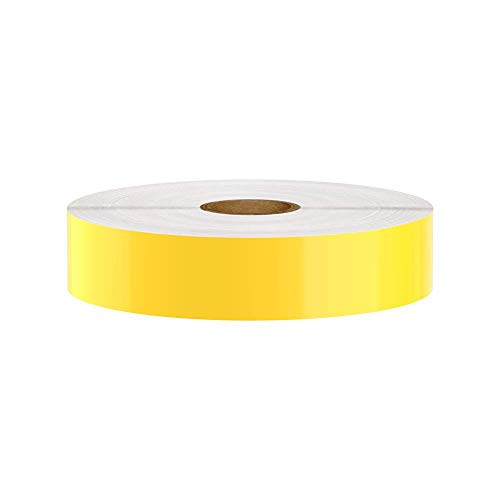 Premium Vinyl Label Tape for DuraLabel, LabelTac, SafetyPro and Others, Yellow, 1