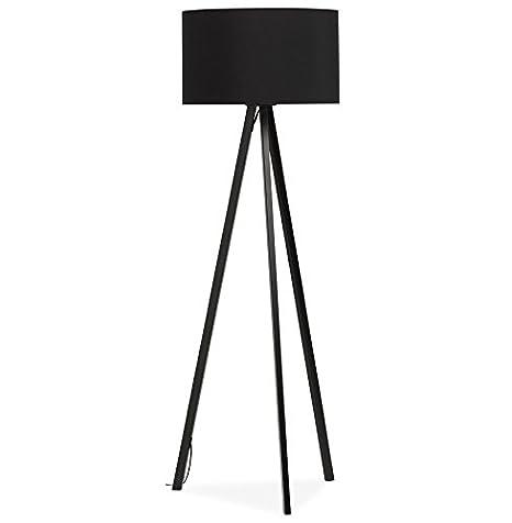 Alterego-trípodeSPRING-Lámpara de pie con pantalla negro y ...