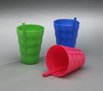 Sip - a - cup, with Built-in Straw - Colors Vary - Qty:1