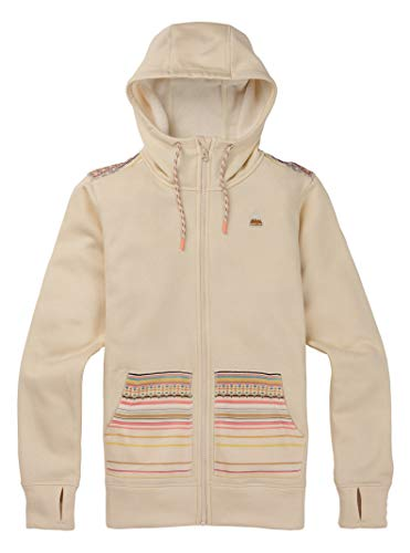 Burton Women's Oak Full-Zip, Heather/Crème Brûlée Revel Stripe, Small