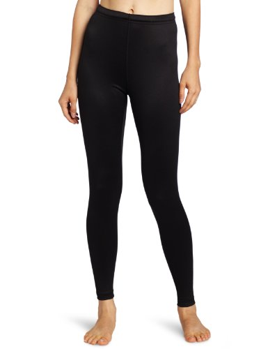 Duofold Women's Mid Weight Varitherm Thermal Leggings, Black, Small