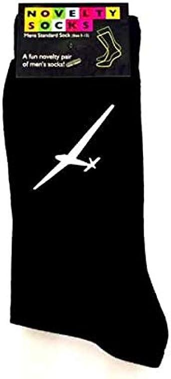 Ashton and Finch Mens GLIDER Plane Airplane Aeroplane Socks