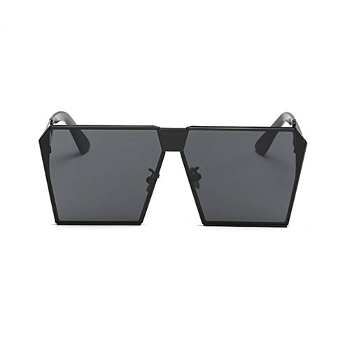 Gris Mujer sol Marco Gafas Gafas Negro Hzjundasi Cuadrado Conducción de de Metal Vendimia Hombre Claro y Pescar sol Gafas o Hombre UV400 Mujer BPfd8SPwq