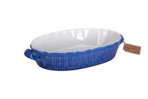 Bia Ramekins (BIA Cordon Bleu Summer Garden 13.25-Inch Oval Baker Dish with Handles, Blue/White)