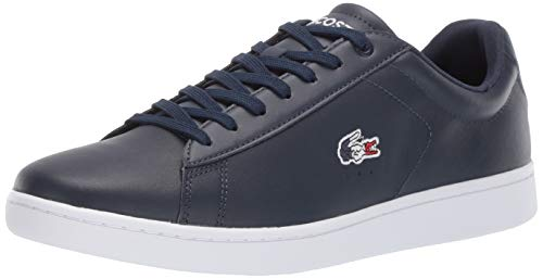 Lacoste Men's Carnaby EVO Sneaker navy/white/red 9.5 Medium US