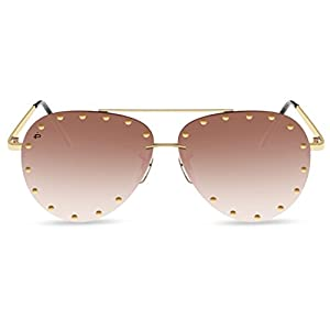"""PRIVÉ REVAUX ICON Collection """"The Sixth Man"""" Handcrafted Designer Sunglasses (Brown)"""