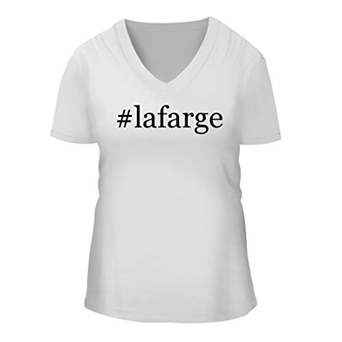shtag Women's Short Sleeve V-Neck T-Shirt Shirt, White, Large ()