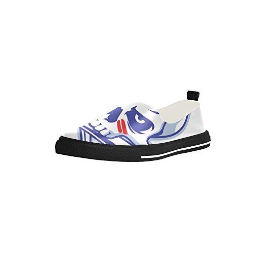 Crâne Personnalisé D-histoire Et Batte De Baseball Croisé Slip-on Microfibre Chaussures Sneaker