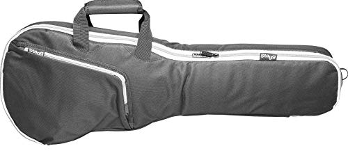 Stagg STB-10C1 Economy Gig Bag for 1/4-Size Classical Guitar with 10-Millimetre Foam Padding & Shoulder Straps - Black