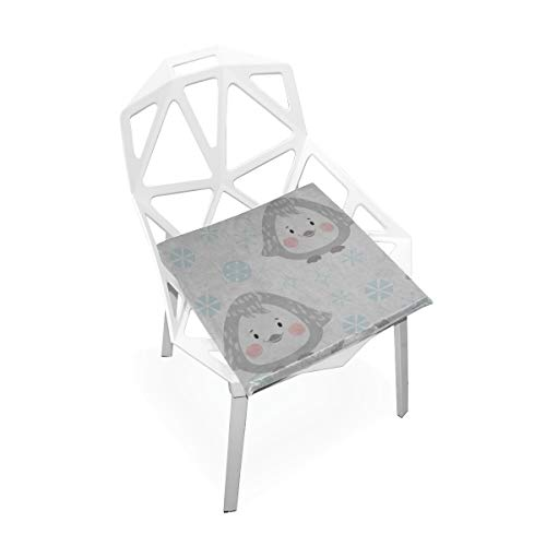 Zaqiwa Foam Seat Cushion Pinguin Arctic Animals Soft Non-Slip Memory Foam Chair Pads Cushions Seat for Home Kitchen Office Desk 16x16 Inch Small Chair Pads