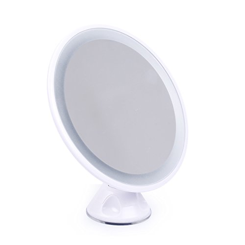 Mrotrida 10X Magnification Mirror Sucker Makeup Mirror With LED Light USB Charging Cosmetic Magnify Mirror 85%OFF