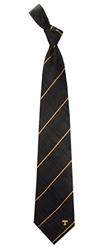 NCAA Tennessee Volunteers Black Oxford Woven Tie