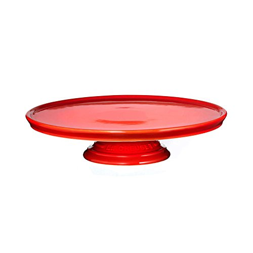 Le Creuset Stoneware Dessert/Cake Stand, Cerise (Cherry Red)