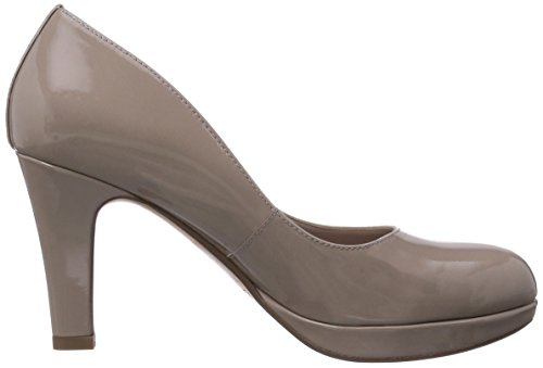 Clarks Crisp Kendra - Tacones Mujer Beige (Shingle Patent)