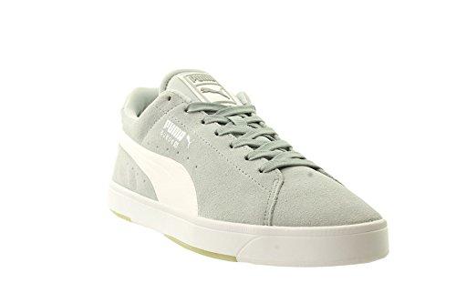 Puma SUEDE S - zapatilla deportiva de cuero hombre Gris - gris/blanco