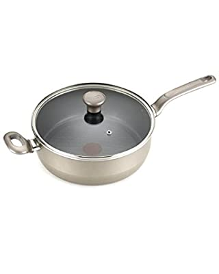 T-fal C91233 Excite Nonstick Thermo-Spot Covered Jumbo Cooker, 4.5-Quart, Red