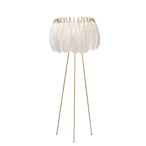 Copper Feather Floor Lamp - Best Wishes Shop Floor Lamp Nordic Feathers Floor Stand Lights White Creative Personality Princess Bedroom Lamp Simple Light Luxury Living Room Sofa Vertical Table Lamp