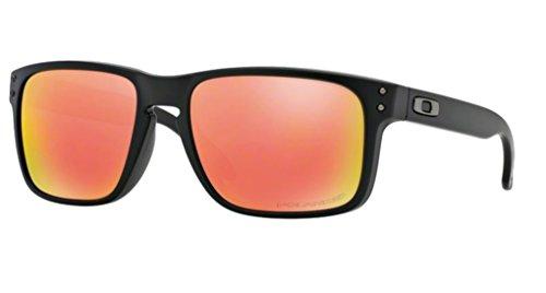 Oakley Holbrook Matte Black w/ Ruby Iridium Polarized 910251 + SD Glasses + - Ruby Oakley Polarized Holbrook