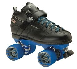 Skate Out Loud-Rock GT 50 Speed Skates with Clawz WheelsBoot Color:Black|Cushions:Orange|Wheel Color:Red|Plate Color:Gray|Size*:10