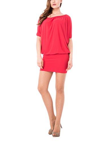 Olivia Abito Drappeggiato, Vestido para Mujer Rojo (Rosso400)