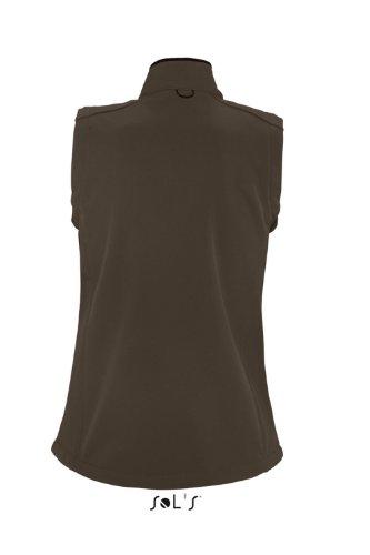 Sol 's–Womens Short Sleeve Softshell Rallye marrón chocolate