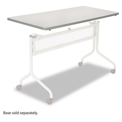 Series Mobile Rectangular Training Tables - Impromptu Series Mobile Training Table Top, Rectangular, 60w x 24d, Gray, Sold as 1 Each