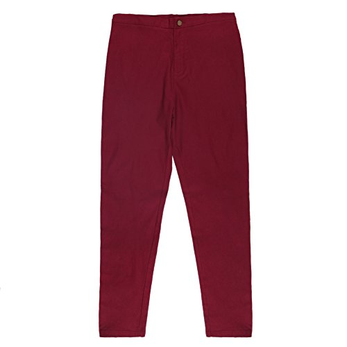 Confort Pantalon Bureau Taille Manner Bold Femme Denim Slim Pants Elastique Crayon Printemps Mode Jeans Haute Legging Collant Uni Longue Casual Rouge Fille ATAx4qXHw