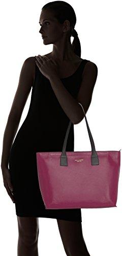 Piquadro Shopping Bag Collezione Antilias Borsa a spalla, Pelle, Prugna, 36 cm