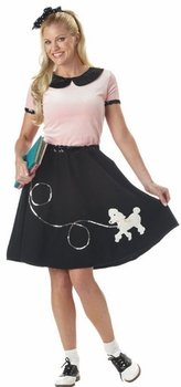 50's Hop Adult Costume - Small (Pan Peter Sequined Collar)