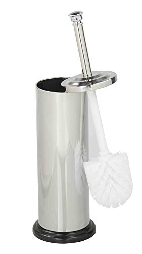 Home Basics Stainless Steel Toilet Brush and Holder, (Stainless Steel Toilet Brush Holder)
