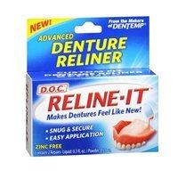 D.O.C. Reline-It Advanced Denture Re-liner Kit Zinc Free (Value Pack of 6)