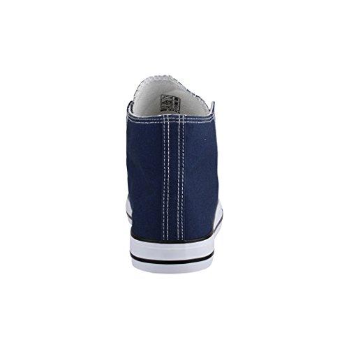 Kult Chunkyrayan Basic Unisex Herren Sportschuhe Top Textil und Bequeme für Sneaker Elara High Dunkelblau Schuhe Damen 5BwRFHFqZ