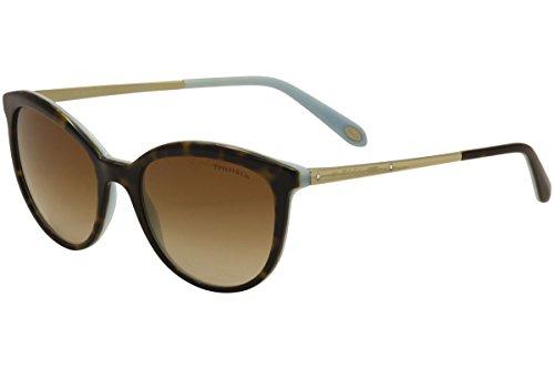 Tiffany TF4117B 81343B Havana / Blue TF4117B Cats Eyes Sunglasses Lens - Cat Tiffany Eye Sunglasses