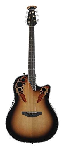 Ovation American LX Series 6 String Electric Guitar, Right, Sunburst (C1868LX-1) ()