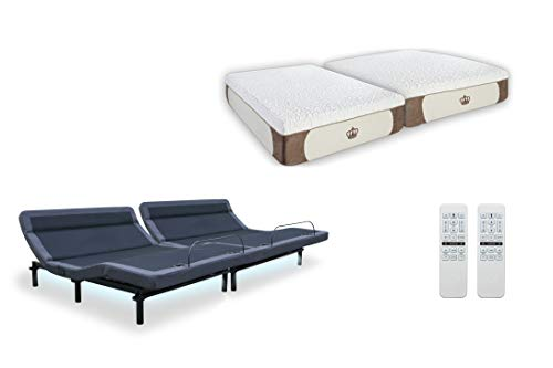 Leggett & Platt New Adjustable Bed The Williamsburg Plus, Dual Massage, Head Tilt, Underbed Light, Dual USB Port with 12