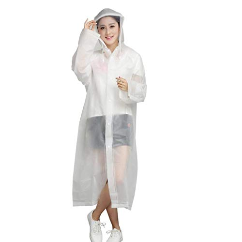And Cammina Rain Eva Trasparente Environmental Women Bianca Raincoat Protection Water Classiche Outdoor Adulto Donne Che Jacket qB0vqwa