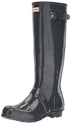 Hunter Women's Original Tall Gloss Boots, Dark Slate, 5 AU, (35/36 EU)