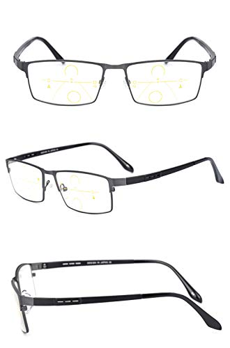 prevención de Zoom Fatiga la 3X Inteligente para Gafas Material lens Brown Sol Brown de Gray de decoloradas Brown Color de Gafas DAFREW Lens Tamaño lectores Hombres Ultraligero Lectura vqAP0SxIxw