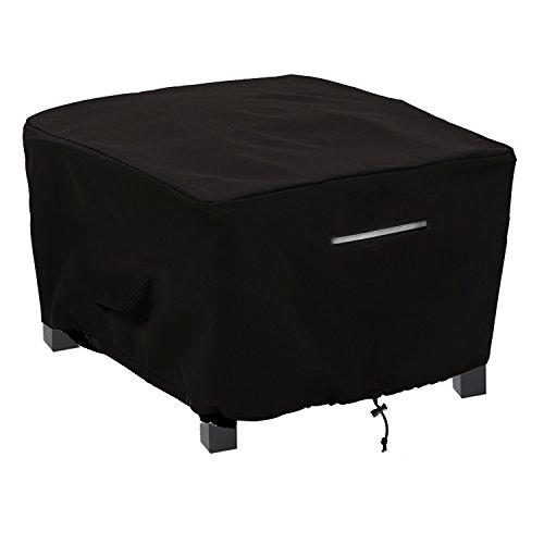 Fabric Outdoor Ottoman - Patio Ottoman/Side Table Cover Rectangular Premium Outdoor Furniture Cover with Durable and Waterproof 600D Oxford Fabric (L26
