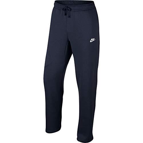 Nike Sweatpants Athletic - Nike Mens Open Hem Fleece Pocket Sweatpants Obsidian/White 823513-451 Size Small