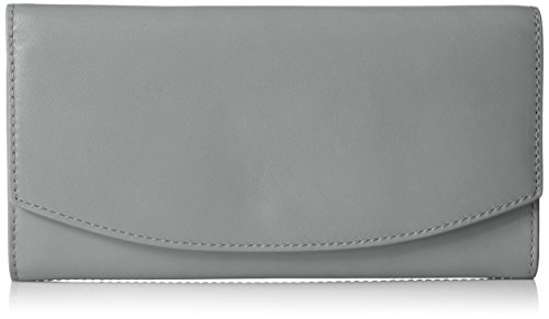Continental Leather Flap Wallet - Light Ash Wallet, Light Ash, One Size by Skagen