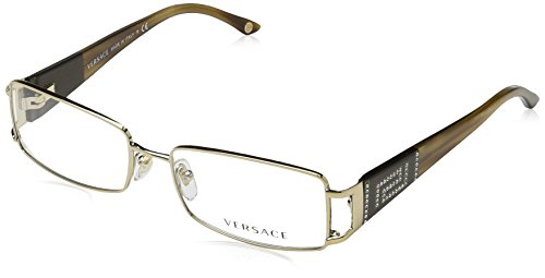 Versace Eyeglasses VE 1163B Eyeglasses 1221 Brown and Gold 52mm